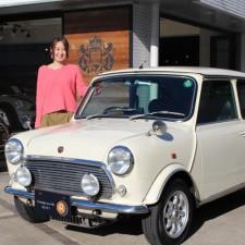 鎌ヶ谷市にお住まいのI様へ、ローバーミニ40th Anniversary LTDをご納車致しました!