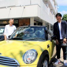 横浜市にお住まいのM様へBMWミニクーパーコンバーチブルをご納車致しました!